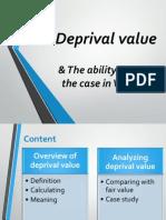 Slide Deprival Value