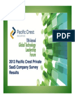 Pacific Crest 2013 SaaS Survey