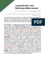 La Selección en Brasil 2014- cien cuentas de Twitter que debesconocer