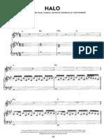 Beyoncè - Halo (Piano Sheet)
