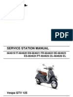 Vespa GTV125 Workshop Manual