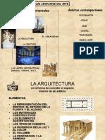 El lenguaje artístico, la arquitectura