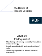 The Basics of Earthquake Location