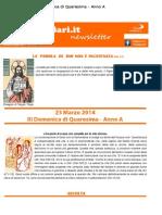 23 Marzo 2014 - III Domenica Di Quaresima - Anno A
