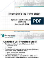 Negotiating the Term Sheet