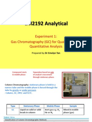 Gas Chromatography (GC) Lecture Notes | Gas Chromatography