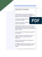 165 Asmaa'ul Husnaa