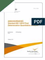 ASHRAE ANSI IES Final Quantitative Analysis Report 90.1 - 2010 Determination Oct2011_v00