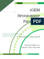 iGEM Sponsorship Package