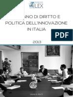 Report E-Lex 2013 sullo stato del diritto e della politica dell'innovazione in Italia