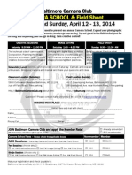 Camera School sponsored Baltimore Camera Club Registration form and information