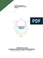 Especificaciones Generales de Complejo Deportivo