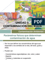 Clase 4. Unidad II. Contaminación del agua