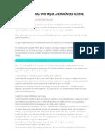 10 PASOS PARA UNA MEJOR ATENCIÓN DEL CLIENTE