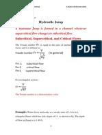 Hydrulic Jump