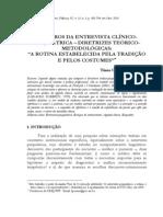 Roteiros da entrevista clínico-psiquiátrica - diretrizes teórico-metodológicas a rotina estabelecida pela tradição e pelos costumes