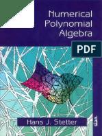 Numerical Polynomial Algebra