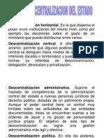 Formas de Descentralizacion Del Estado