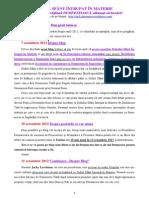 DUHUL SFÂNT ÎNTRUPAT ÎN MATERIE-20.03.2014