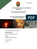 Pracitcas Preprofesionales de Fundicion 2011 - 2012
