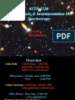 Observations & Instrumentation II:                   Spectroscopy