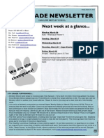 6th grade newsletter march 21 2014