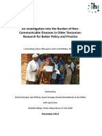 An Investigation into the Burden of Non-Communicable Diseases in Older Tanzanians