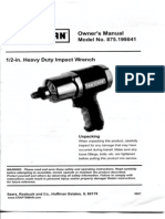 Craftsman Model 875.199841 Half-Inch Heavy Duty Impact Wrench Manul