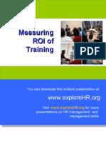 Measuring ROI of Training