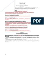Psihologie Admitere MASTER 2014