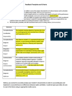 melissa feedback template and criteria for ddp 1