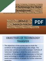 Transfer of Technology for Rural Development