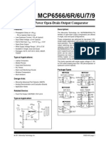 MCP 6566 6R 6U 7 9 1.8V Low Power Open Drain Output Comparator
