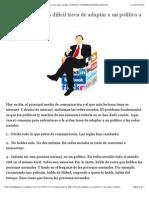 10 consejos para la difícil tarea de adaptar a un político a las redes sociales | POLÍTICA Y COMUNICACION EN EL SIGLO XXI