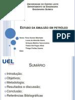 Estudo da emulsão em petróleo