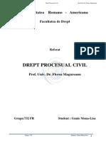 Referat Drept Procesual Civil Gunie Mona-Lisa Grupa 732FR Prof. Univ. Dr. Florea Magureanu
