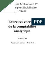 Exercices Corrigés de la Comptabilité Analytique