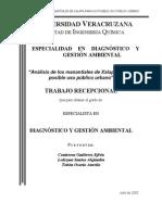 Analisis de Los Manantiales, Para Su Posible Uso Publico Urbano, Mexico, 82 Paginas