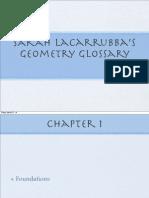 sarah lacarrubbas geometry glossary