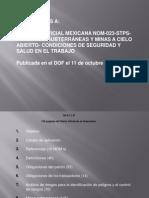 La Norma Oficial Mexicana Nom-023-Stps-2012
