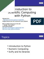 Intro to Scientific Computing With Python