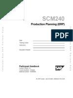 SCM240 Production Planning