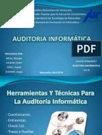 Herramientas y Tecnicas Para La Auditoria Informatica
