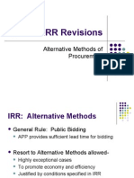 Revised IRR RA 9184 (Alternative Modes)