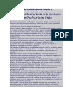 Articulo Publicado en El Periodico Domine Cultural N