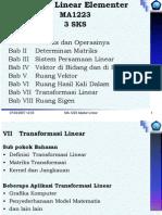 Bab VII Transformasi Linear
