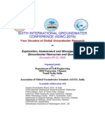 SIXTH INTERNATIONAL GROUNDWATER CONFERENCE (IGWC-2015). Request for Abstracts