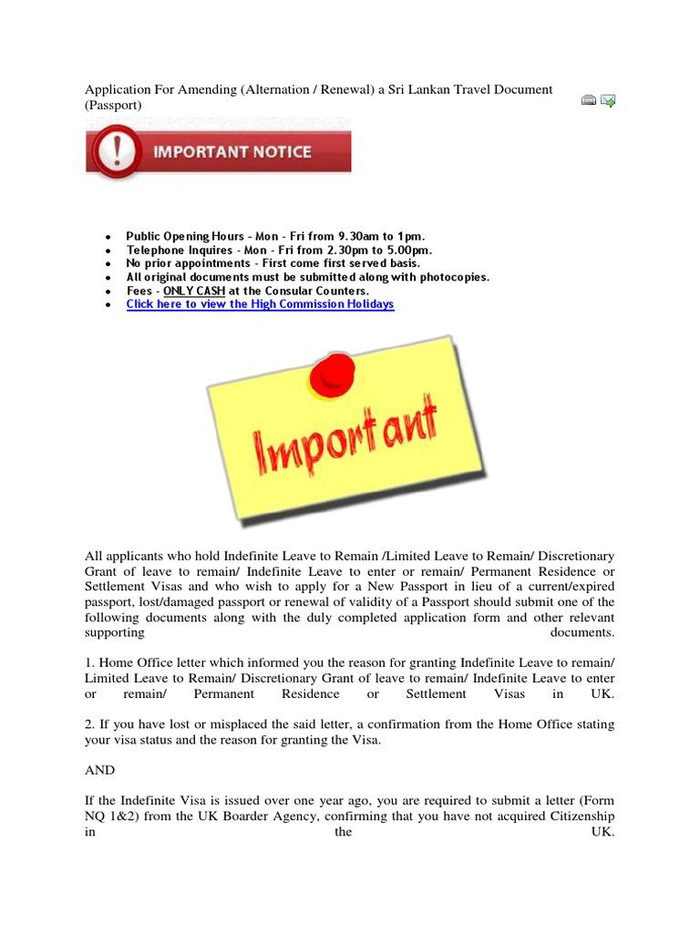 Application for Amending | Travel Visa | Passport