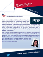 Bulletin 21 March 2014