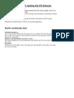 Avolites FD PAT Test Instructions
